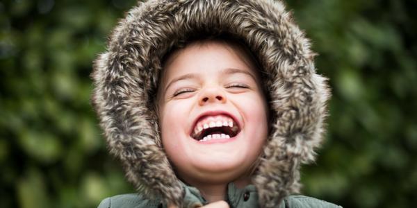 Child in fur jacket